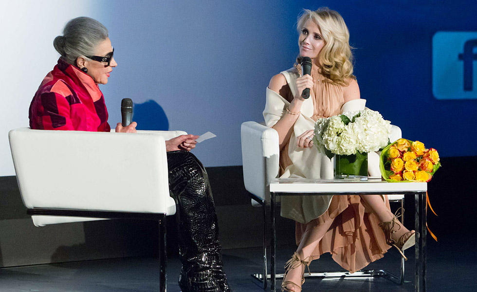 Joy Bianchi Interviews Jennifer Siebel Newsom at <em>The Mask You Live In</em> Movie Screening